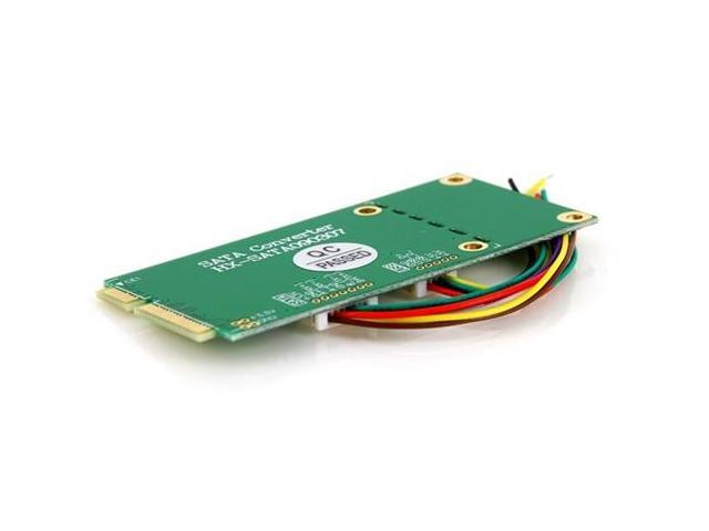 Mini PCI-e PCI Express to SATA SSD + USB DIY Adapter (Green)
