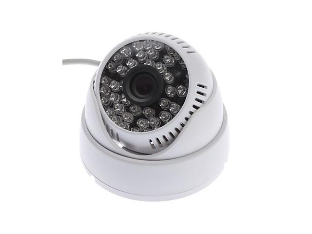 2in1 Audio Video 48LEDs Indoor 6MM 1/3 SONY CCD 420TVL Color cctv Security dome Camera