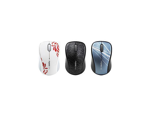 Rapoo 3100P USB Wireless Optical Mouse (Assorted Colors) , Blue