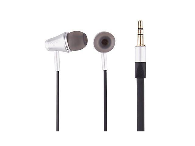 Fashion High Quality Metal Shell Noodles Line In-Ear Headphones (E300M) Black , Black