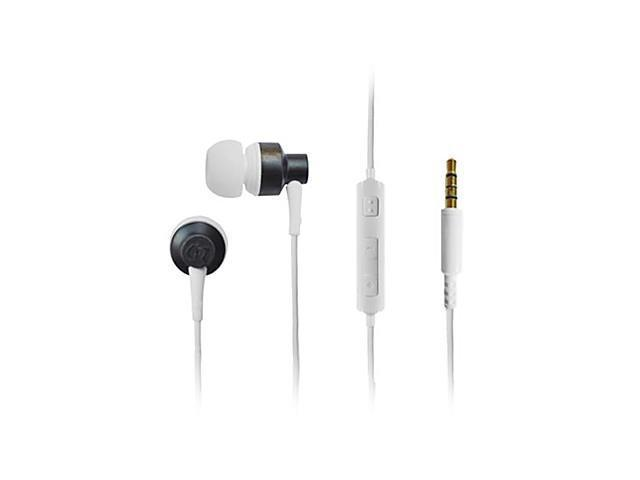 GeekRover Ebony Wood Volume Controlable In-ear Earphones with Mic for iPhone iPad and Others (110cm)