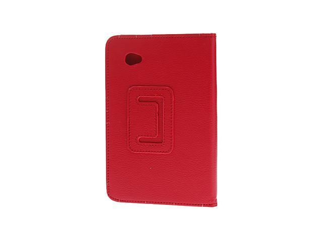 Litchi Print Pattern PU Leather Pouches with Stand for Samsung Galaxy Tab 2 7.0 P3100 P3110 , Red
