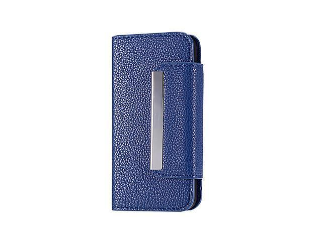 Litchi Grain PU Leather Folio Case with Card Slot for iPhone 5/5S (Assorted Colors) , Black