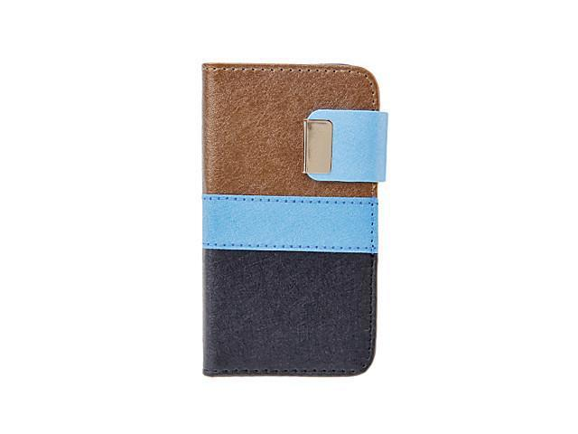 Silk Print PU Leather Folio Case with Card Slot and Stand for iPhone 4/4S (Assorted Colors) , Brown