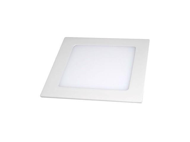 9W High Power 1-LED 660LM 6500K White Square LED Panel Light (AC 85-256V)