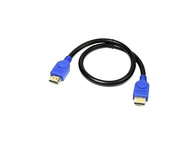 GC-110072 V1.3 HDMI Male to Male Gold-plated Connector Cable(50cm) , Black