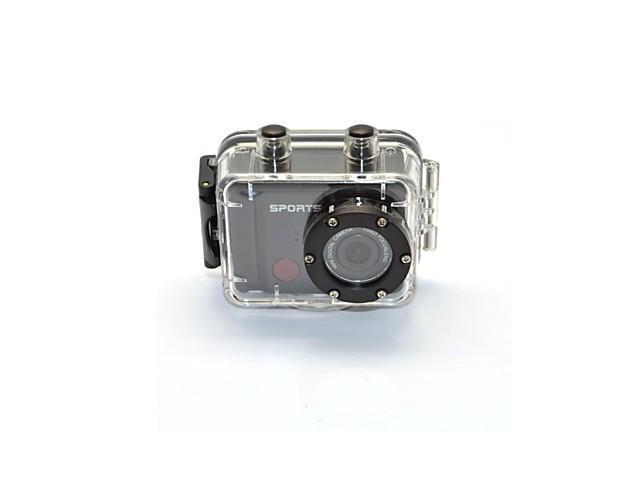 IR Remote Control Sport Mini Action Camera Waterproof Camera 1080P Full HD Helmet DV , Black-White