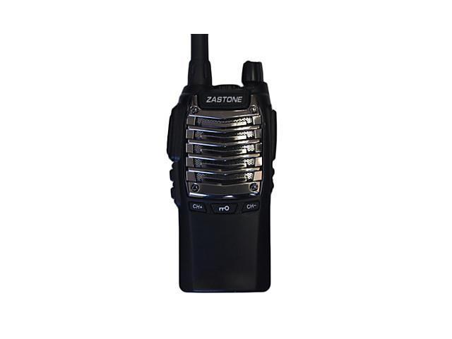 Waterproof handheld radio IP57 < 6W ZASTONE T2000 Two way transceiver , Black