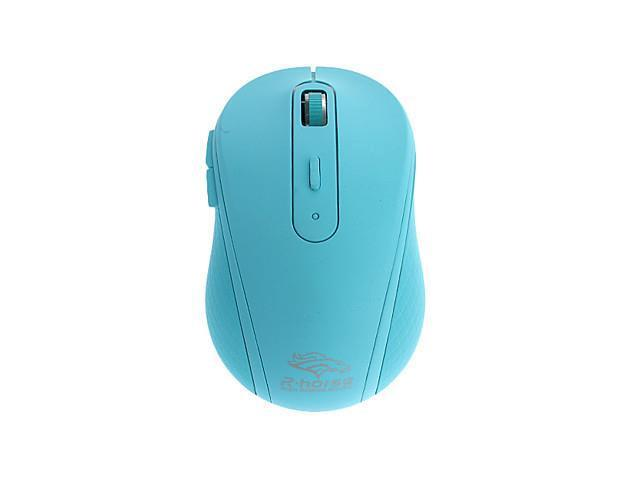USB Wireless 2.4G Silent Operates Optical Mouse (Assorted Colors) , Blue