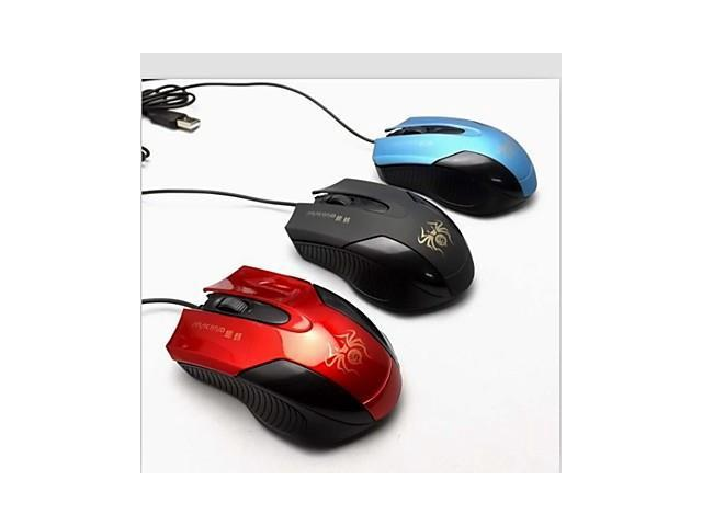 Cool Appearance, Surface Increase Non-slip Rubber Oil Game Cafe Cable Photoelectric Usb Mouse , Blue