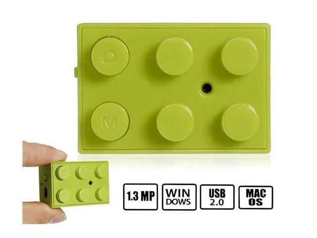 1.3MP Building Block Digital Camera with Video Recorder and TF Card Reader (Green)