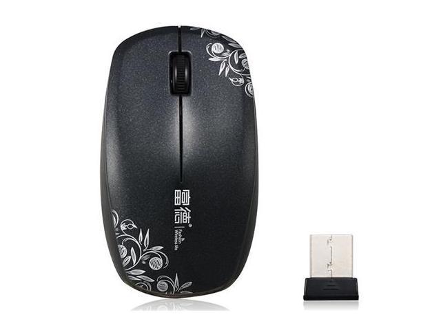 Fude V188 Silent Click 2.4GHz Wireless Optical Mouse (Black)