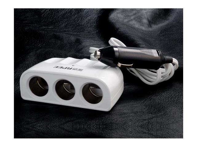 FF1103 130W Three-port Car Power Expansion Adapter (White)