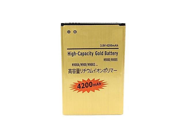 High Capacity 3.7V 4200mAh Batteries for Samsung Galaxy Note 3 III N9000 , Gold
