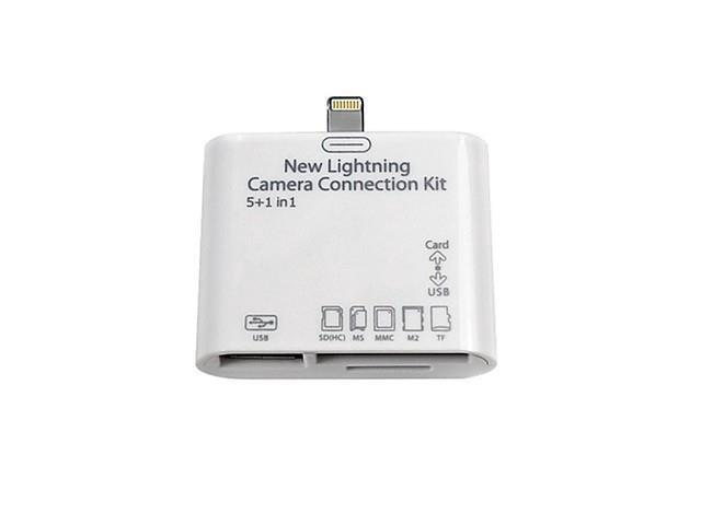5 in1 USB Camera Connection Kit Card Reader Adapter for iPad 4 Mini Air