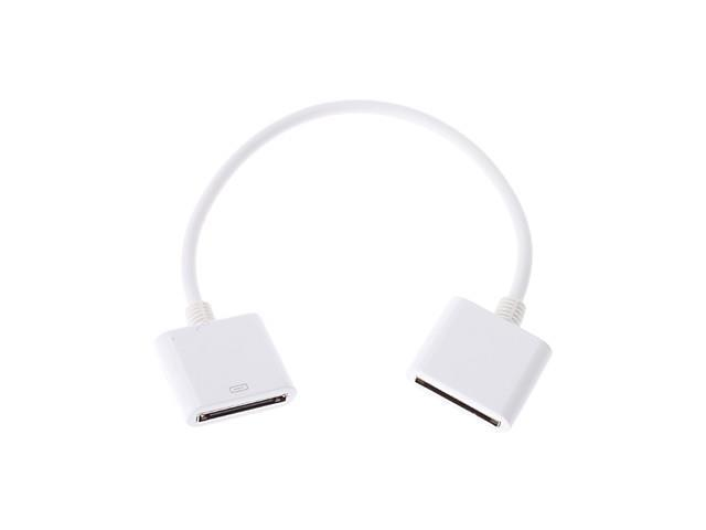 30-Pin Female to Female Adapter for iPhone, iPad and iPod Touch (White)
