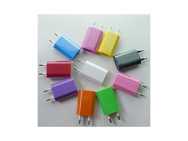 EU AC Plug to USB2.0 Travel Charger Adapter for iPhone 6 iPhone 6 Plus/Samsung and Others (Assorted Colors) , Orange