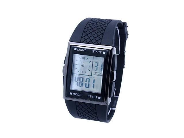 Men's Digital Watches LED Silicone Band Men Sports Watches