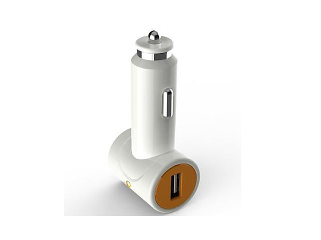 D8 5v Dual USB Car Charger for iPhones iPad and And Other Mobile Devices(Assorted Colors) , White