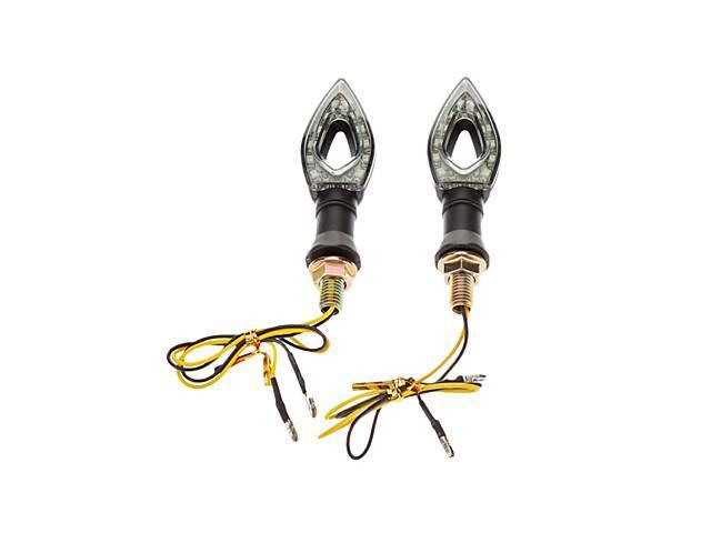 Heart Shaped LED Signal Tunning Light for Motorcyles (2-Pieces, DC 12V, Yellow light)