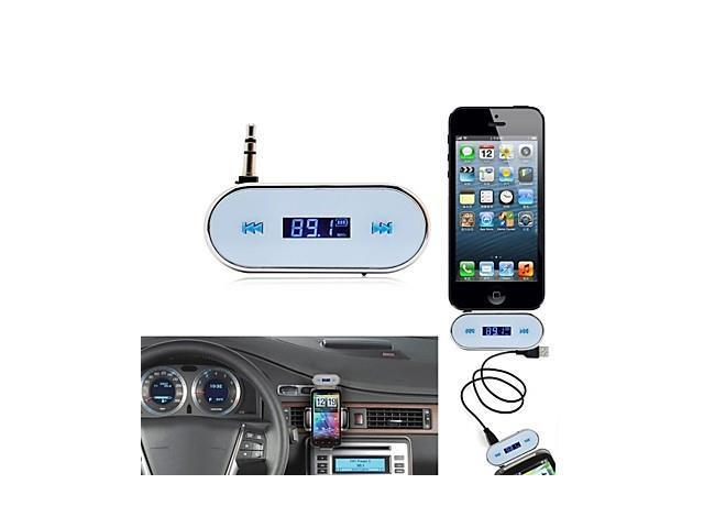 Wireless 3.5mm In-car LCD Display Fm Transmitter for Apple iPhone 5 Samsung Galaxy S2 SII S3 SIII S4 SIV i9500 Note 2 Note 3 , ...