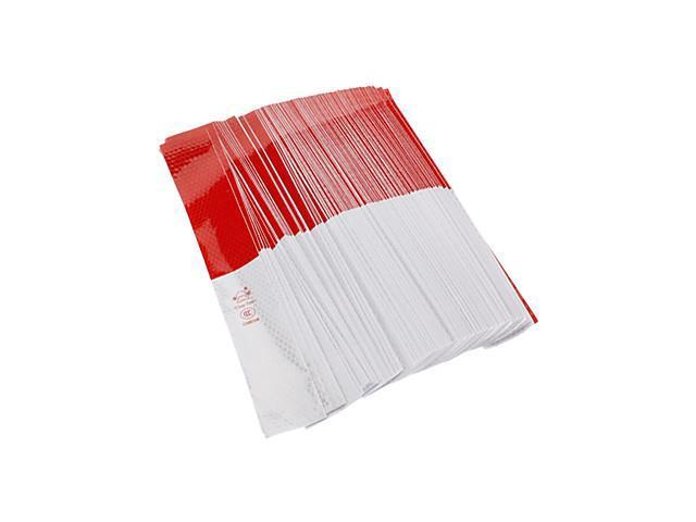 Universal Red-White Pattern Warning Reflective Stickers Protective Films for Cars (150-Pieces)