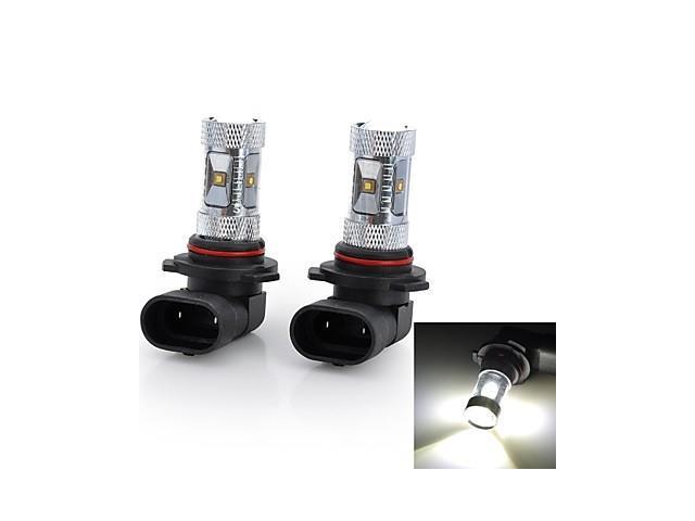 Marsing® High Power 9009 30W 2800LM 6*Osram LED 6500K White Light Car Fog / Head Light (12V / 2pcs)