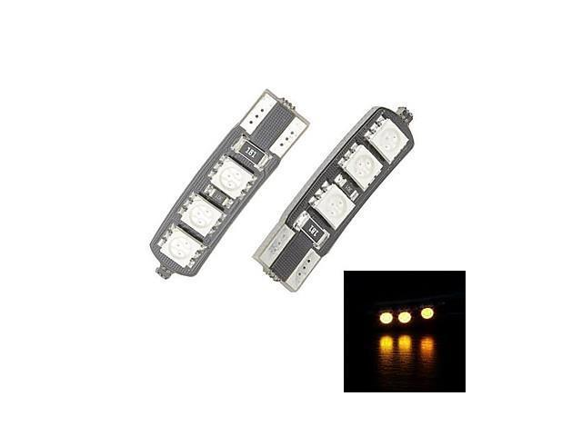 Merdia T10 6x5050SMD LED Yellow Light for Canbus Decoded Car License Plate Lamp / Reading Lamp(Pair /12V)
