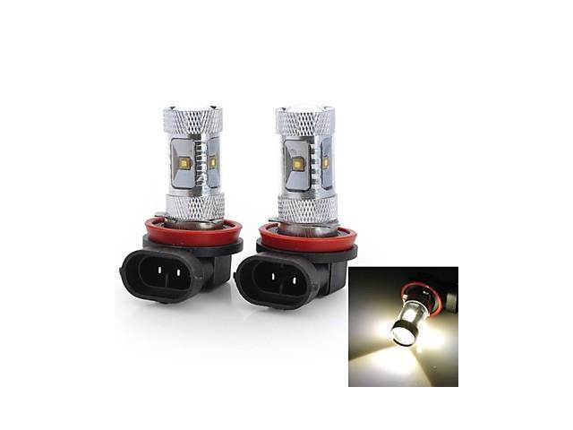 Marsing® High Power H11 30W 2800LM 6*Osram LED 6500K White Light Car Fog / Head Light (12V / 2pcs)