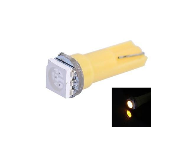 T5 0.25W 14LM 1x5050 SMD LED Yellow Light for Car Indicate / Dashboard / Width Lamps (DC 12V,, 1Pcs)