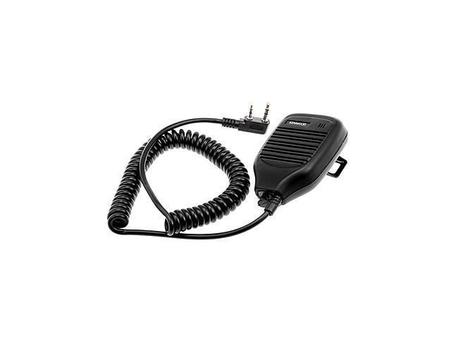 Microphone for Walkie Talkie KMC-21 w/ Clip - Black (2.5mm / 3.5mm Jack)