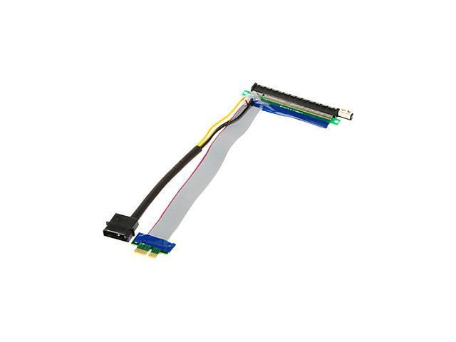 PCI-E 1X Male to 16X Female Adapter Cables with Power Cord(20cm)