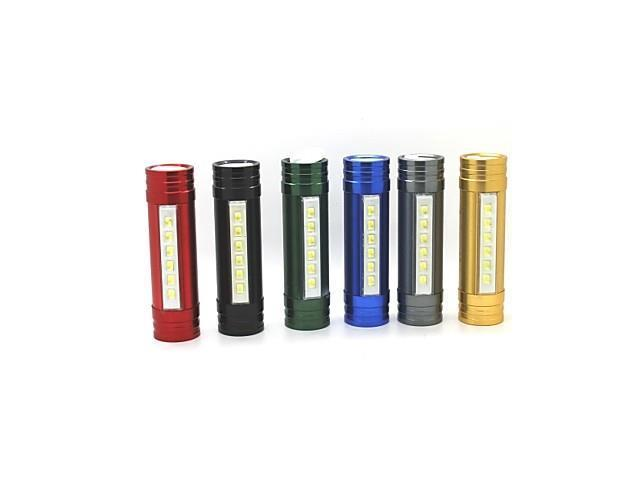 XL80 Rechargeable 3 Modes 6xLed 2 in 1 Led Flashlight(1200LM.Built-in Battery.Red) , Black