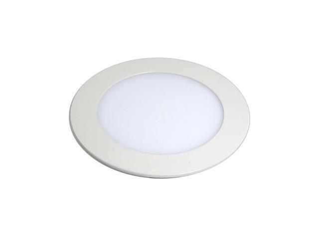 9W High Power 1-LED 660LM 6500K White Round LED Panel Light (AC 85-256V)