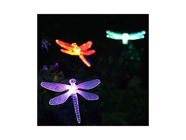 Solar Color-Changing Dragonfly Garden Stake Light