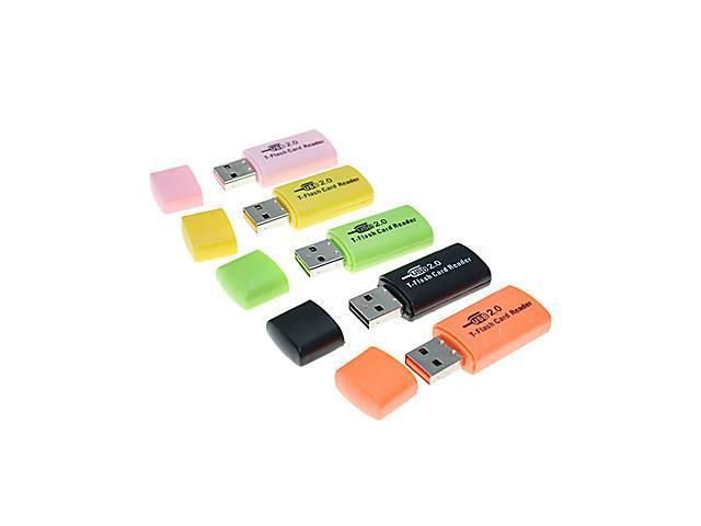 USB 2.0 Micro SD/Micro TF Card Reader (Assorted Color)