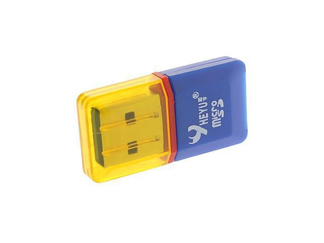 USB 2.0 Micro SD/TF Card Reader with Light Blue