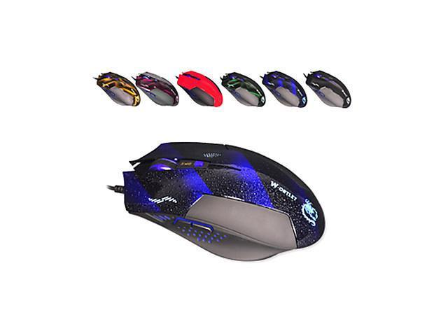 USB Wired Multi-keys DPI-switched Gaming Mouse(Assorted Colors) , Blue