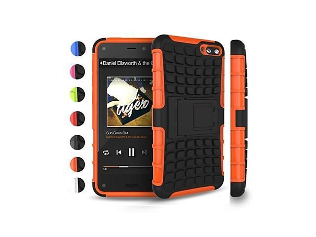 Two-in-One Tire Grain Design PC and Silicone Case with Stand for Kindle Fire Phone , Green