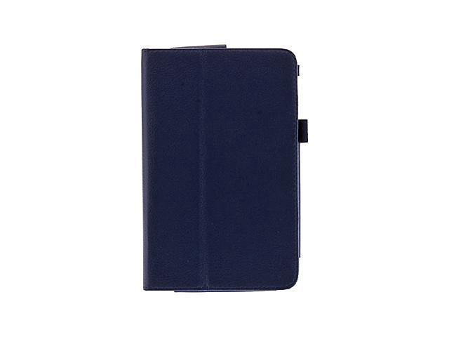 7 Inch Lichee Pattern PU Leather Folio Case for Asus 173X MeMO Pad HD 7 , Blue