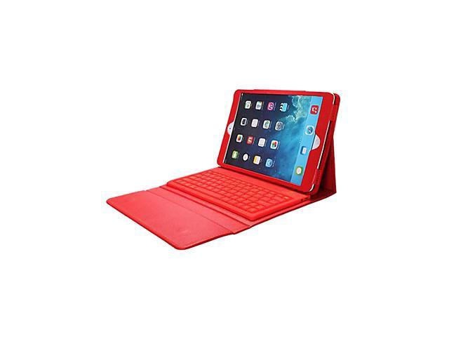 Silicone Bluetooth 3.0 Keyboard with PU Leather Case for iPad Air(Assorted Colors) , Pink