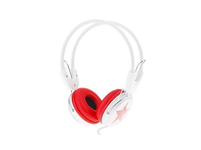 Fashional Wired 3.5mm On-ear Hi-Fi Stereo Music Headphone , Red