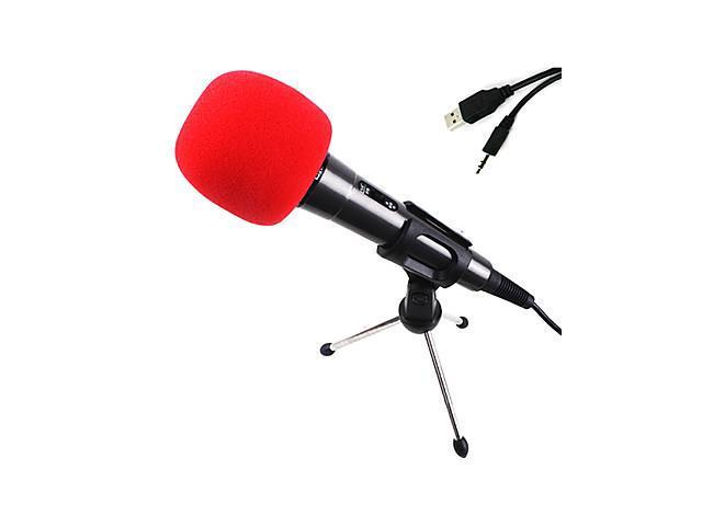 Enhanced Version Reverberation Condenser Microphone For Pc And Laptops , Black
