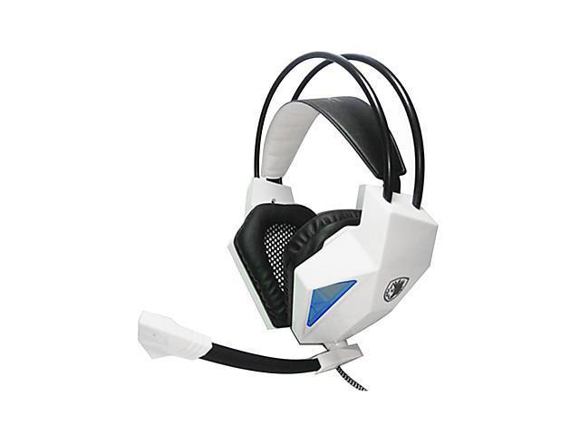 SADES SA709 Stereo Bass Hi-Fi On-Ear Headphone with Microphone for computer games/music , White