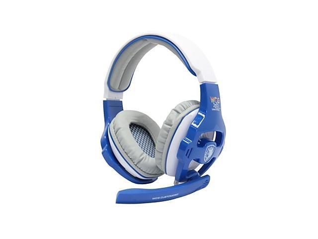 SADES SA-820 Professional Gaming Headset for PC Game WCG Edition 7.1 Surround Sound Effect Over-Ear (Blue)