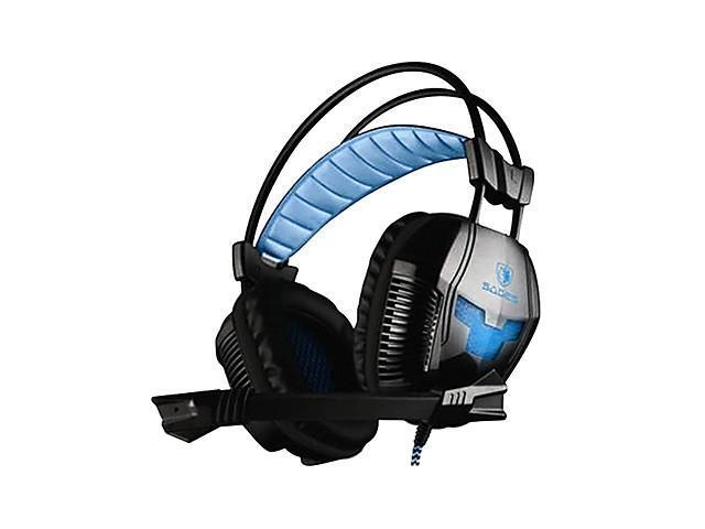 SADES A30 High Quality On-Ear Headphone with Microphone for computer games/music , Black
