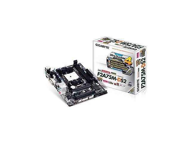 GIGABYTE GA-F2A75M-DS2 AMD A75/DDR3/Socket FM2/USB3.0 Motherboard