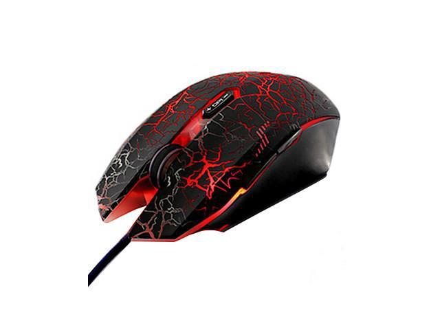 Wired USB Professional Super Dazzle LED Gaming Mouse with Mousepad , Blue