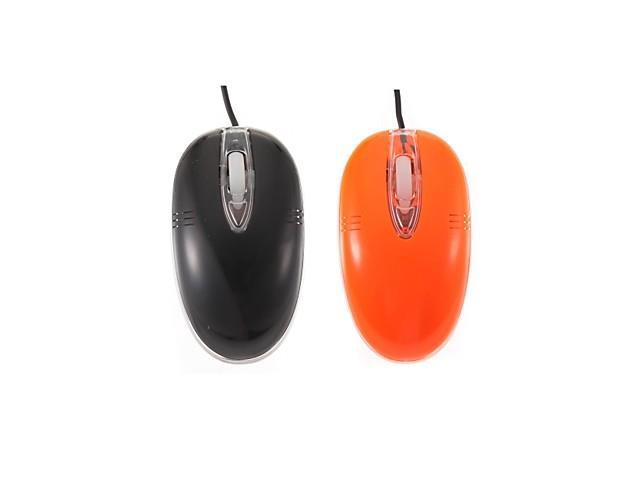 Fashion Transparent Edge Mini Optical USB2.0 Wired Mouse(Assorted Colors) , Black
