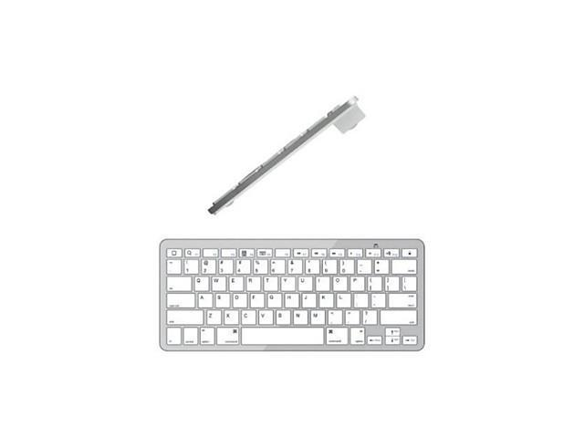 Slim Portable Bluetooth Wireless Keyboard for IOS , Silver